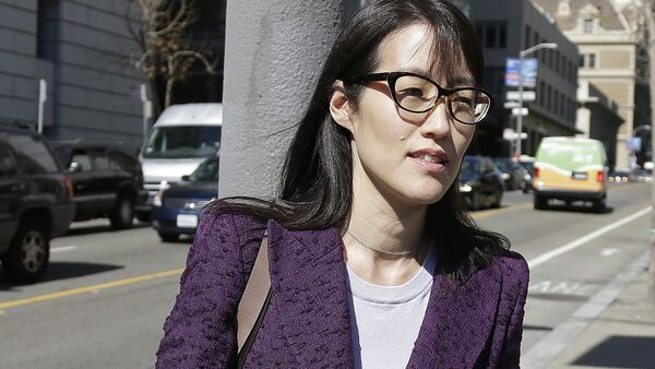 In this Feb. 24, 2015 file photo, Ellen Pao leaves the Civic Center Courthouse during a lunch break during her trial in San Francisco. Pao said she was abruptly fired after filing a lawsuit alleging gender discrimination. - Sputnik International