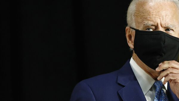 Democratic presidential candidate, former Vice President Joe Biden speaks at Alexis Dupont High School in Wilmington, Del., Tuesday, June 30, 2020 - Sputnik International