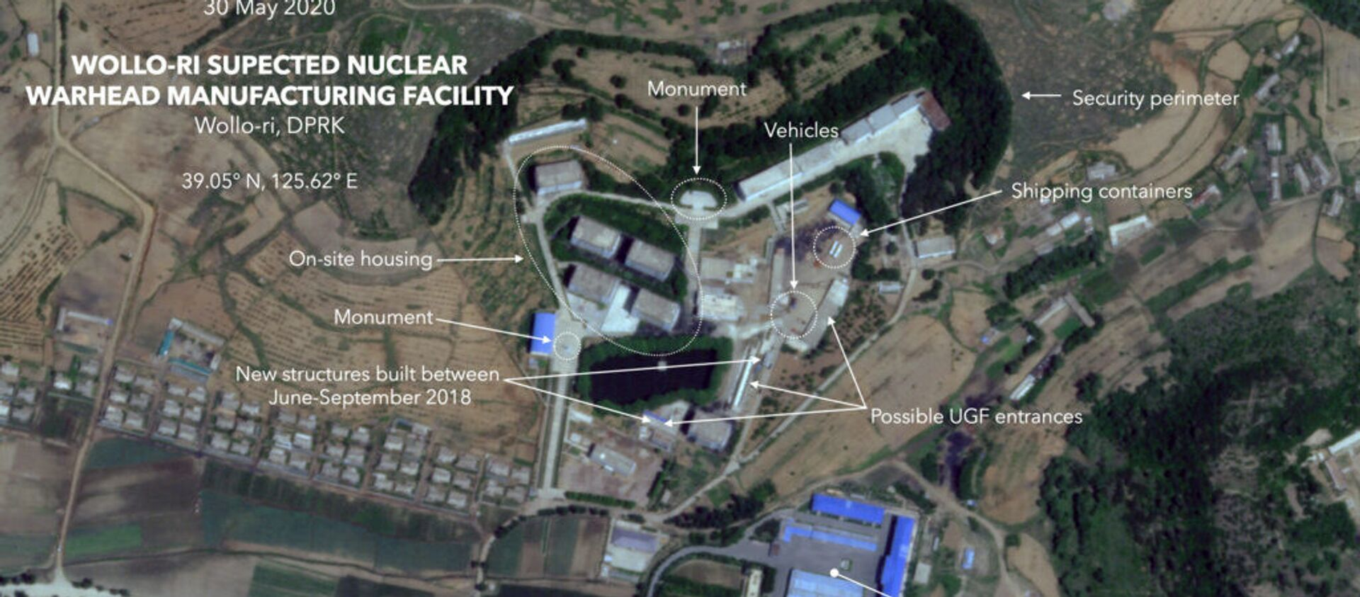 Satellite image of a suspected North Korean nuclear weapons facility taken May 30, 2020 - Sputnik International, 1920, 09.07.2020