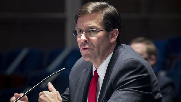 Defense Secretary Mark Esper testifies during a House Armed Services Committee hearing on Thursday, July 9, 2020, on Capitol Hill in Washington. - Sputnik International