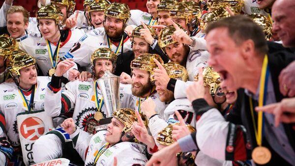 Frölunda Indians celebrating their victory - Sputnik International