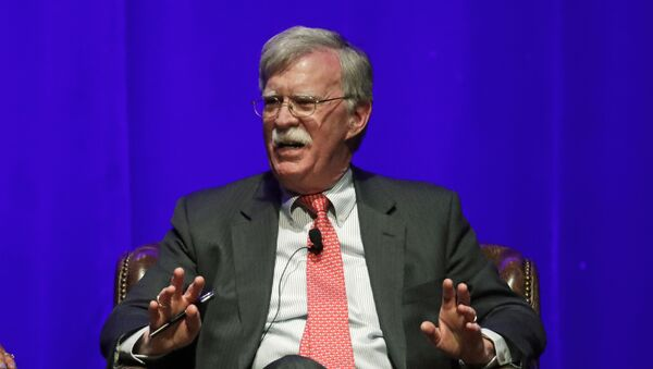 In this Feb. 19, 2020, file photo, former national security adviser John Bolton takes part in a discussion on global leadership at Vanderbilt University in Nashville, Tenn. An attorney for Bolton said Wednesday, June 10, that President Donald Trump is trying to put on ice publication of the former top administration official's forthcoming memoir after White House lawyers again this week raised concerns that the book contains classified material that presents a national security threat. - Sputnik International