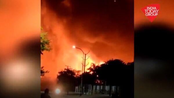 Vishakhapatnam's Pharma Waste Factory Bursts Into Flames - Sputnik International