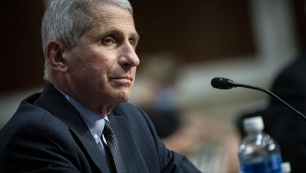 Director of the National Institute of Allergy and Infectious Diseases Dr. Anthony Fauci listens during a Senate Health, Education, Labor and Pensions Committee hearing on Capitol Hill in Washington, Tuesday, June 30, 2020 - Sputnik International