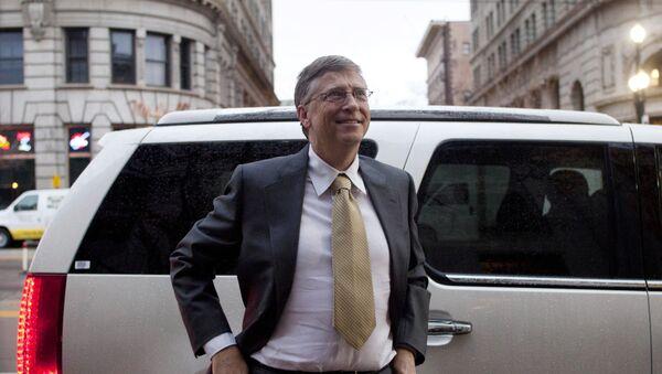Microsoft founder Bill Gates arrives at the Frank E. Moss federal courthouse in Salt Lake City, Monday, 21 November 2011 - Sputnik International