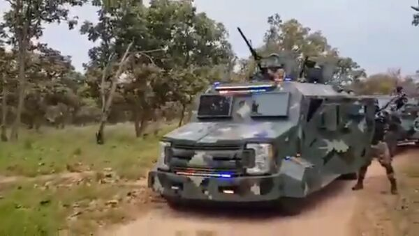 Jalisco New Generation Cartel (CJNG) allegedly shows off its military-grade equipment in a video distributed online - Sputnik International