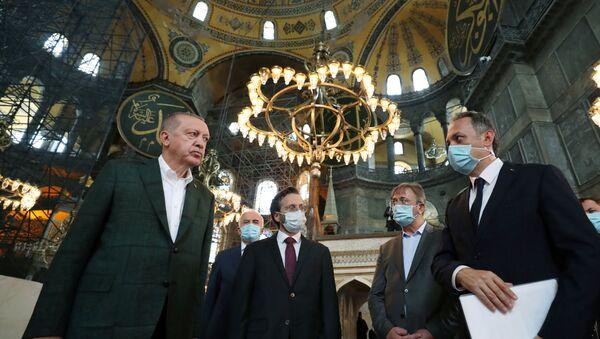 Turkish President Tayyip Erdogan Visits the Hagia Sophia - Sputnik International