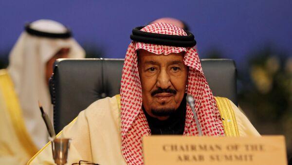 Saudi Arabia's King Salman attends a summit between Arab league and European Union member states, in the Red Sea resort of Sharm el-Sheikh, Egypt, February 24, 2019 - Sputnik International