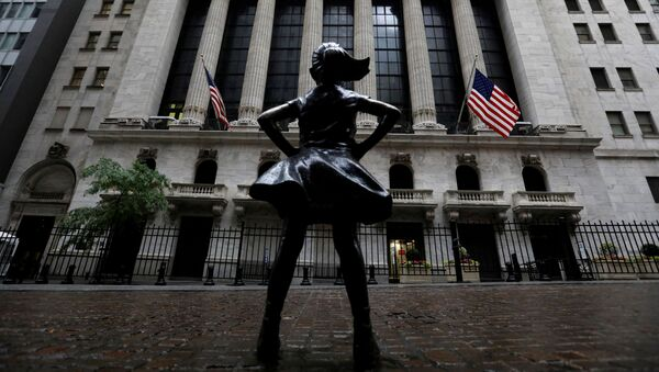 The Fearless Girl statue is seen outside the New York Stock Exchange (NYSE) in New York City, New York, U.S., June 11, 2020.  - Sputnik International