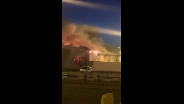 Fire at the airport of Belgium's city of Liege on 22 June 2020 - Sputnik International
