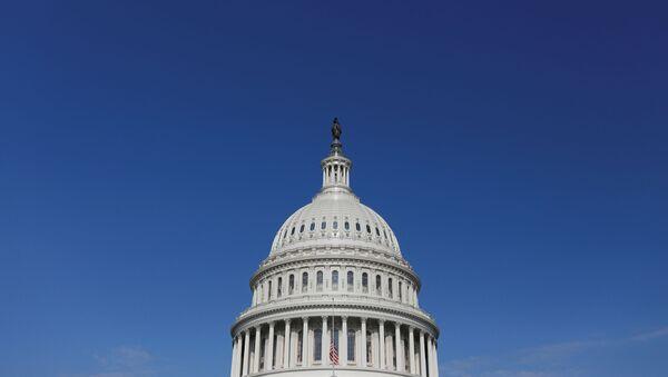 A general view of the U.S. Capitol building, amid the coronavirus (COVID-19) outbreak on Capitol Hill in Washington, U.S. July 21, 2020. - Sputnik International