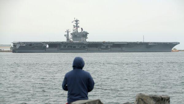 Aircraft carrier USS Nimitz with Carrier Strike Group 11 depart from San Diego, California - Sputnik International