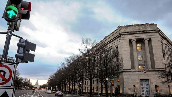 The US Department of Justice building in Washington - Sputnik International
