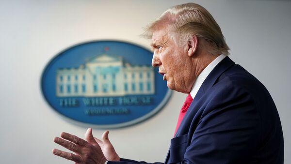 U.S. President Donald Trump speaks during a coronavirus disease (COVID-19) news briefing at the White House in Washington, U.S., July 23, 2020. - Sputnik International