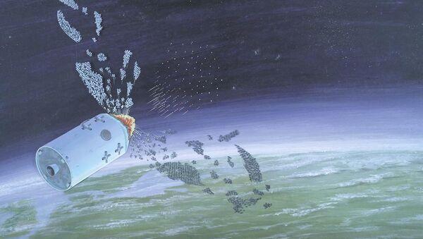 Defense Intelligence Agency illustration of an anti-satellite weapon from the publication 'Soviet Military Power'. - Sputnik International