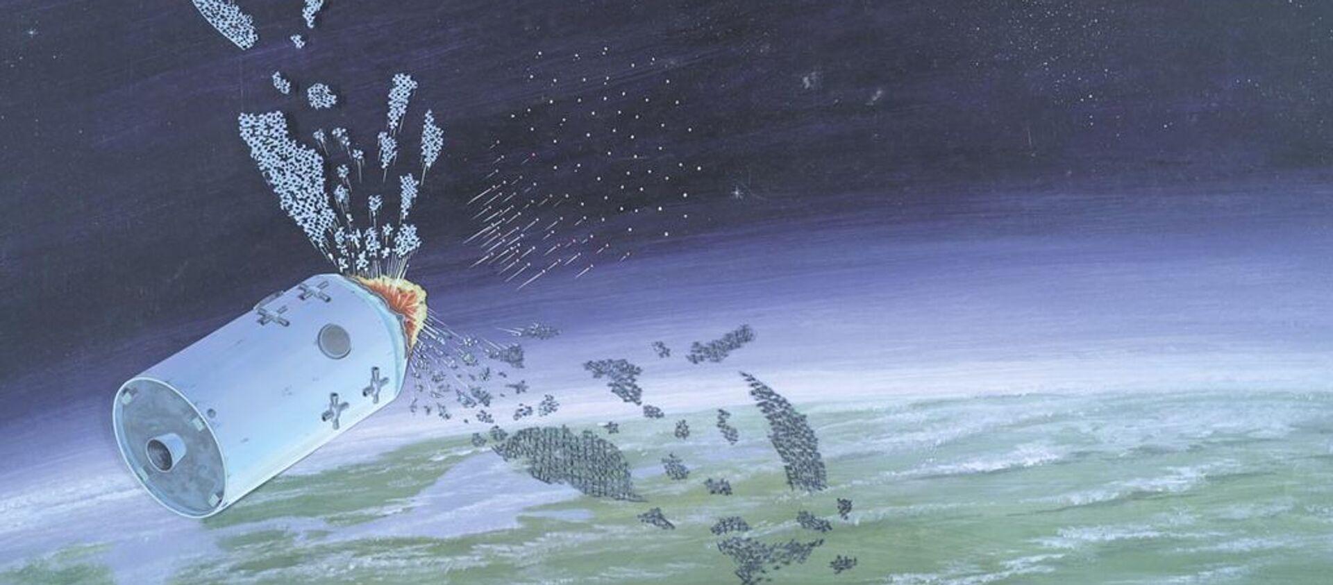 Defense Intelligence Agency illustration of an anti-satellite weapon from the publication 'Soviet Military Power'. - Sputnik International, 1920, 24.07.2020