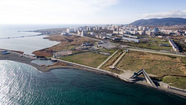 View of the Russian Black Sea port city of Novorossiysk. File photo. - Sputnik International