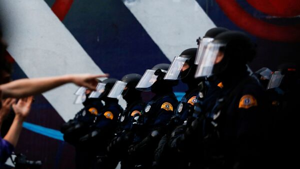 Washington State Patrol officers near Seattle Police Department's East Precinct in Seattle - Sputnik International