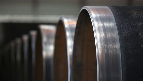 Piece of pipeline used in gas industry - Sputnik International