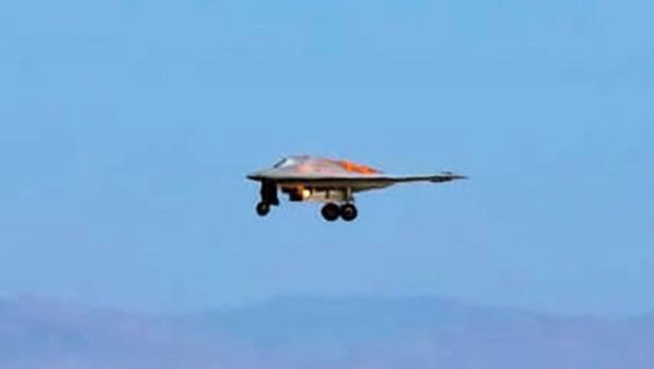 RQ-170 Sentinel photographed landing at United States Air Force Plant 42 in Palmdale, California.  - Sputnik International