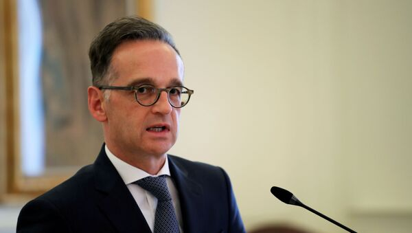 German Foreign Minister Heiko Maas speaks during a news conference at the Ministry of Foreign Affairs in Athens, Greece, July 21, 2020.  - Sputnik International