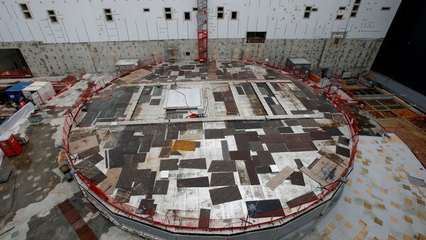 FILE PHOTO: General view of the circular bioshield inside the construction site of the International Thermonuclear Experimental Reactor (ITER) in Saint-Paul-lez-Durance, southern France, November 7, 2019. REUTERS/Jean-Paul Pelissier/File Photo - Sputnik International