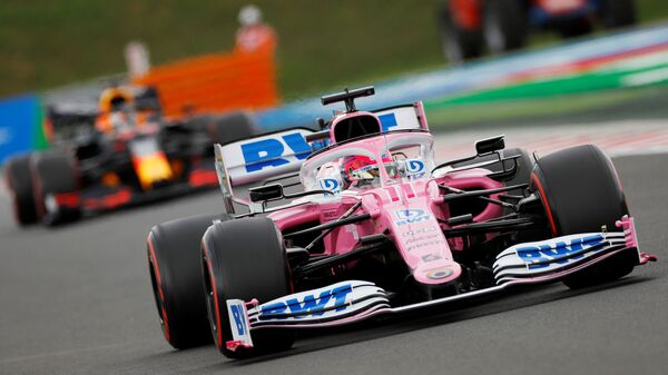 Formula One F1 - Hungarian Grand Prix - Hungaroring, Budapest, Hungary - July 18, 2020 Racing Point's Sergio Perez in action during qualifying - Sputnik International