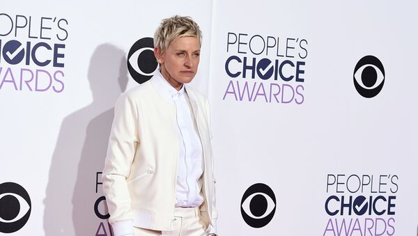 Ellen DeGeneres arrives at the People's Choice Awards at the Nokia Theatre on Wednesday, Jan. 7, 2015, in Los Angeles - Sputnik International
