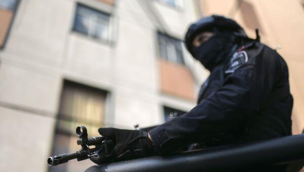An agent of the Secretariat of Citizen Security (SSC) in Mexico City - Sputnik International