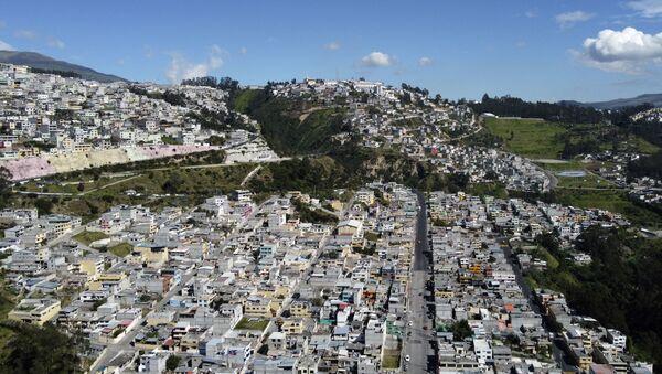 Aerial view of La Bota neighbourhood, one of northern Quito's poorest areas - Sputnik International