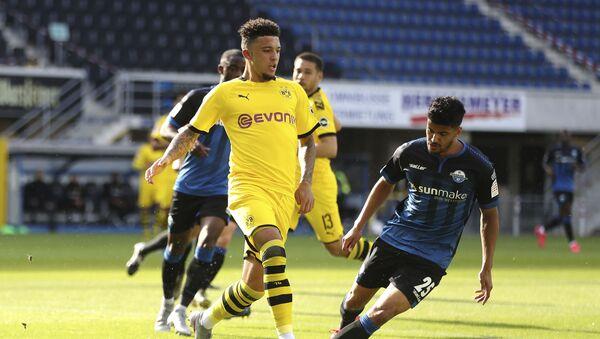 Jadon Sancho in action for Borussia Dortmund - Sputnik International