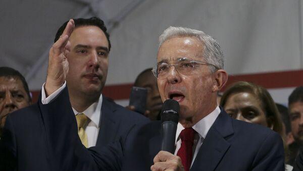 Former Colombian President Alvaro Uribe in Bogota - Sputnik International