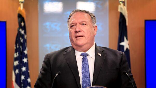 U.S. Secretary of State Pompeo attends a news conference in Washington - Sputnik International