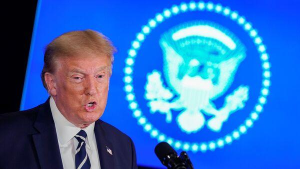 U.S. President Trump holds a news conference at his golf resort in Bedminster, New Jersey - Sputnik International
