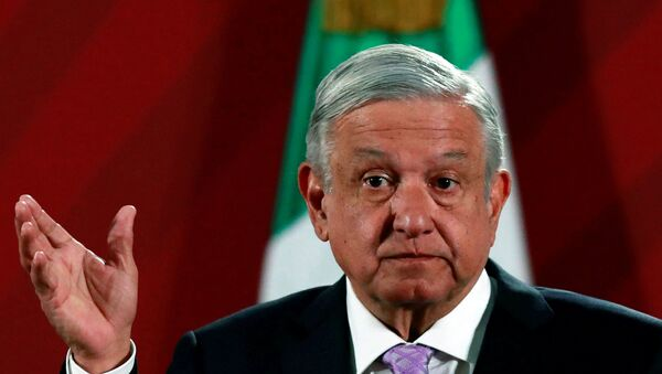 Mexico's President Andres Manuel Lopez Obrador attends a news conference at the National Palace in Mexico City, Mexico February 18, 2020. - Sputnik International