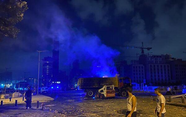 Protests erupt in Beirut on 8 August 2020 - Sputnik International