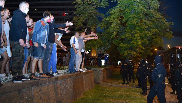 Demonstrators in Minsk - Sputnik International