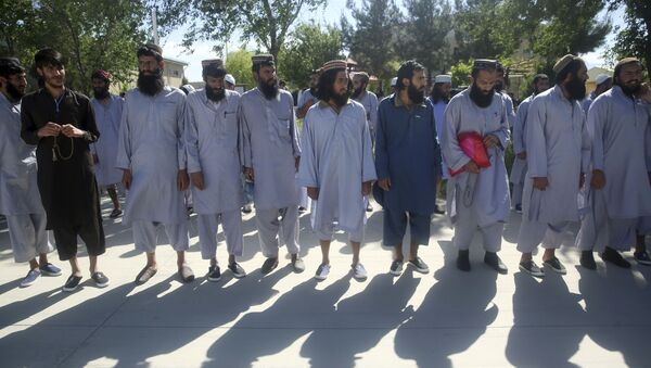 Afghan Taliban prisoners in Parwan province, Afghanistan - Sputnik International