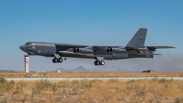 A B-52H Stratofortress assigned to the 419th Flight Test Squadron takes off from Edwards Air Force Base, California, Aug. 8. - Sputnik International