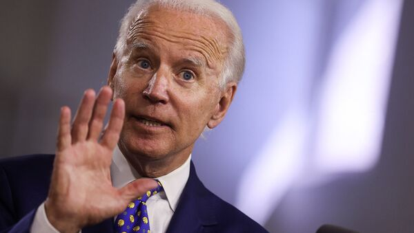 Democratic presidential candidate and former Vice President Joe Biden speaks about his plans to combat racial inequality at a campaign event in Wilmington, Delaware, U.S., July 28, 2020 - Sputnik International