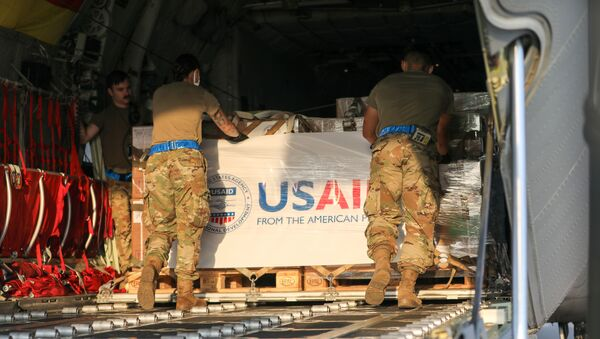 U.S. Army and Air Force service members assisted USAID with the transportation of nearly 12,000 pounds of medical kits from the Netherlands, through Germany and on to Lebanon.  - Sputnik International