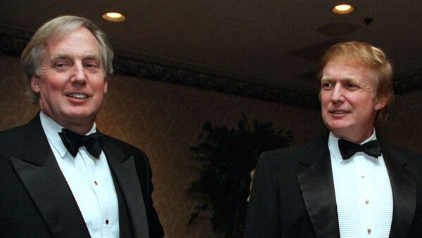Robert Trump, left, joins real estate developer and presidential hopeful Donald Trump at an event - Sputnik International