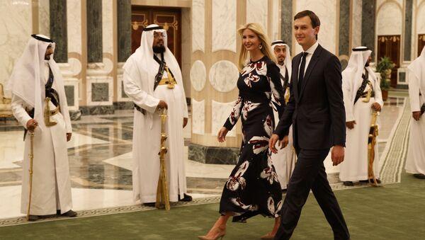 In this Saturday, May 20, 2017, file photo, White House senior adviser Jared Kushner, right, walks with Ivanka Trump at the Royal Court Palace, in Riyadh, Saudi Arabia. Trump's son-in-law Jared Kushner and Saudi Arabia's newest heir to the throne Mohammed bin Salman. - Sputnik International