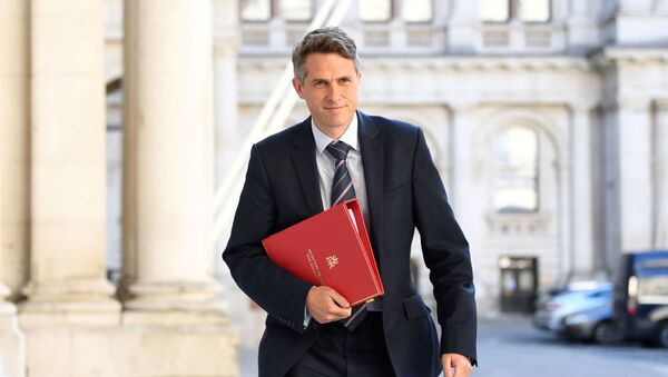 FILE PHOTO: Britain's Secretary of State for Education Gavin Williamson arrives at the Foreign and Commonwealth Office (FCO), ahead of a cabinet meeting to be held at the FCO, for the first time since the COVID-19 lockdown in London, Britain July 21, 2020. - Sputnik International