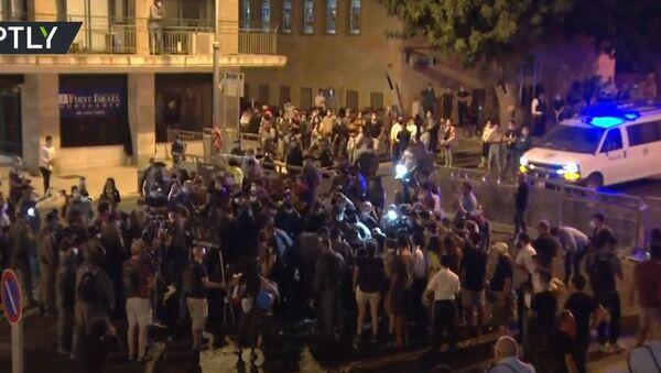 protests in Jerusalem against Israeli Prime Minister Benjamin Netanyahu - Sputnik International