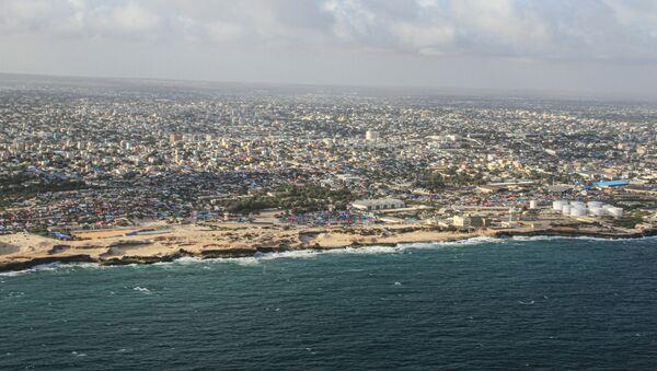This aerial view taken on September 19, 2019 shows Somalia's capital Mogadishu. - Sputnik International