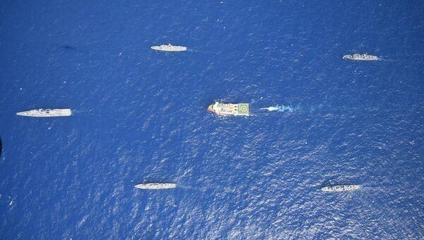Turkish seismic research vessel Oruc Reis is escorted by Turkish Navy ships as it sets sail in the Mediterranean Sea, off Antalya, Turkey, August 10, 2020. Picture taken August 10, 2020 - Sputnik International