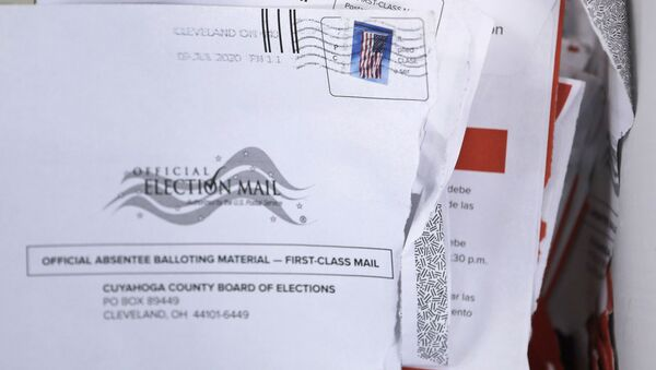 Applications for voter ballots are seen at the Cuyahoga County Board of Elections Tuesday, July 14, 2020, in Cleveland - Sputnik International