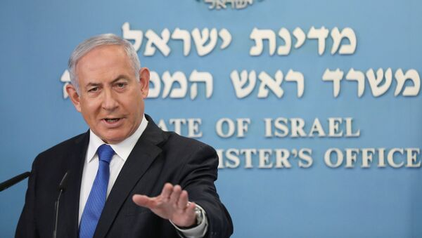 Israeli Prime Minister Benjamin Netanyahu announces a peace agreement to establish diplomatic ties, between Israel and the United Arab Emirates, during a news conference at the prime minster office in Jerusalem, August 13, 2020.   - Sputnik International