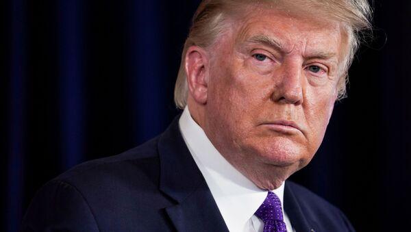 U.S. President Donald Trump speaks during a news conference at Trump National Golf Club in Bedminster, New Jersey, U.S., August 15, 2020 - Sputnik International